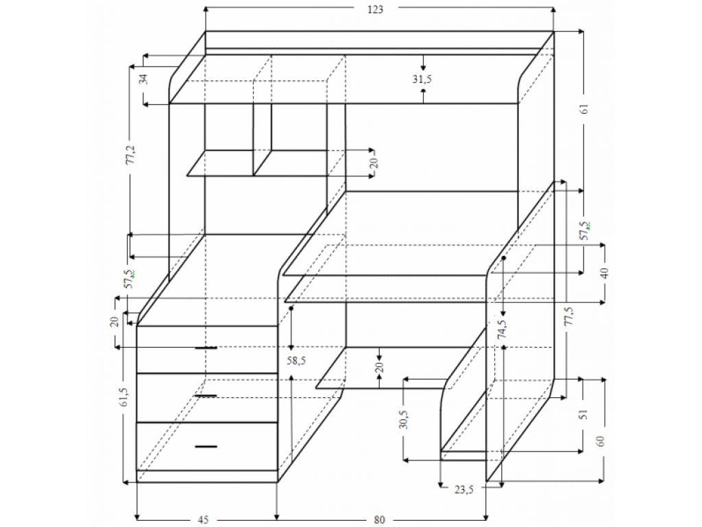 Мебель своими руками из дсп с чертежами 323