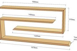 Схема размера настенной полки