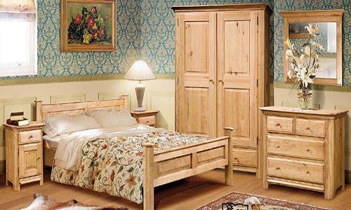 Спальня из мебельного щита