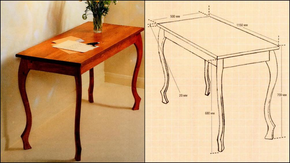 Как сделать ножки у кухонного стола 338