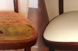 Для того, чтобы перетянуть  стул, в первую очередь стоит укрепить каркас.