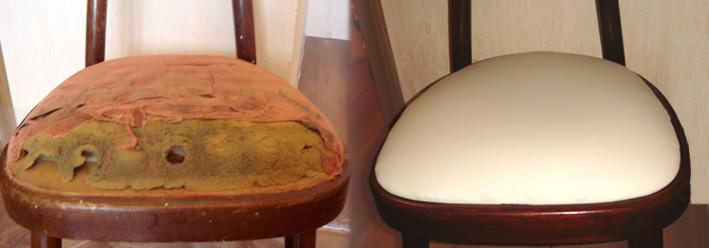 Перетянуть сиденье стула