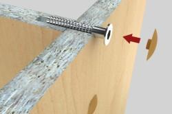 Крепеж составных частей мебели