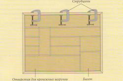Установка верхнего отрезка багета