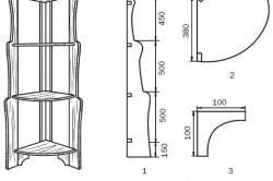 Схема изготовления угловых полок