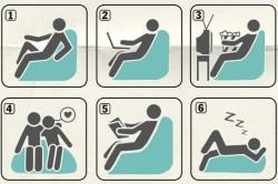 Варианты использования мягкого кресла