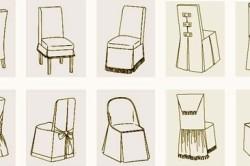 Виды чехлов для стула