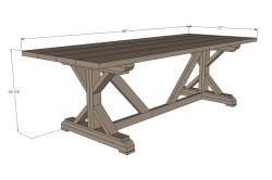 Вариант деревянного винтажного стола