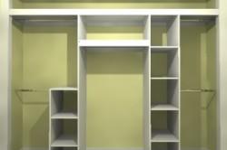 Конструкция встроенного шкафа