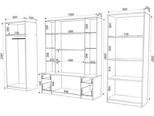 Размеры корпусной мебели