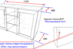 Схема тумбы под аквариум 200 литров