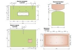 Схема бампера в кроватку