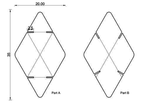 Схема ширмы из картона,