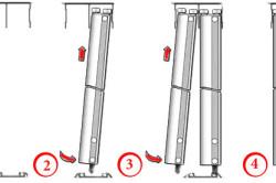 Этапы установки раздвижных дверей