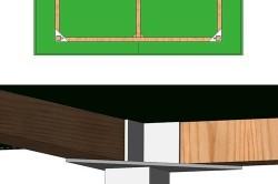 Эскиз кронштейнов стола для настольного тенниса