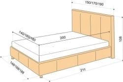Схема размеров для односпальной кровати