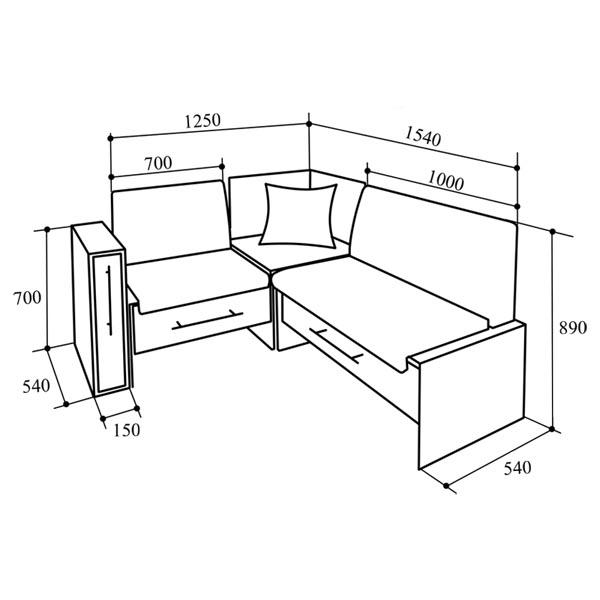 Изготовить угловой кухонный диван своими руками