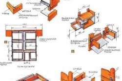 Схема односпальной кровати с ящиками