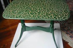 Реставрация столика в стиле кракелюр