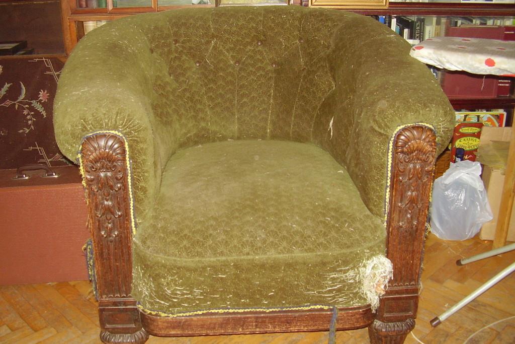 Как сделать с старого кресла новое 2