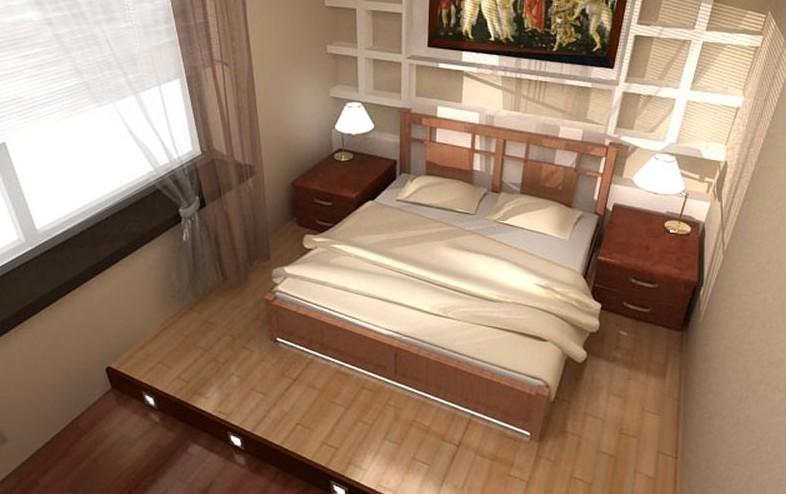 Кровать подиум с выдвижными ящиками