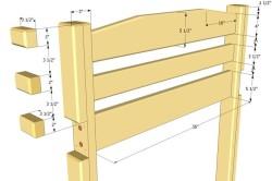 Схема изготовления спинки для кровати