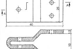 Схема изготовления серьги.