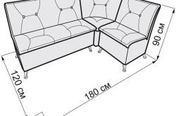 Размеры мягкого кухонного дивана