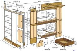 Проект двухъярусной кровати