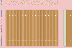 Схема изготовления раскладушки из картона