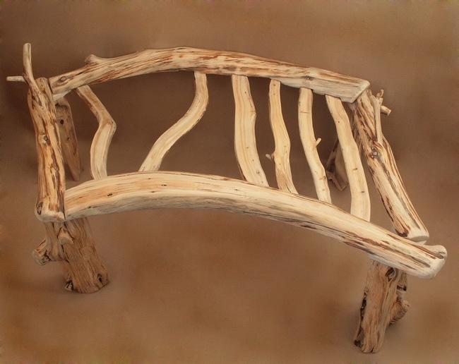 Стол для ноутбука из веток с