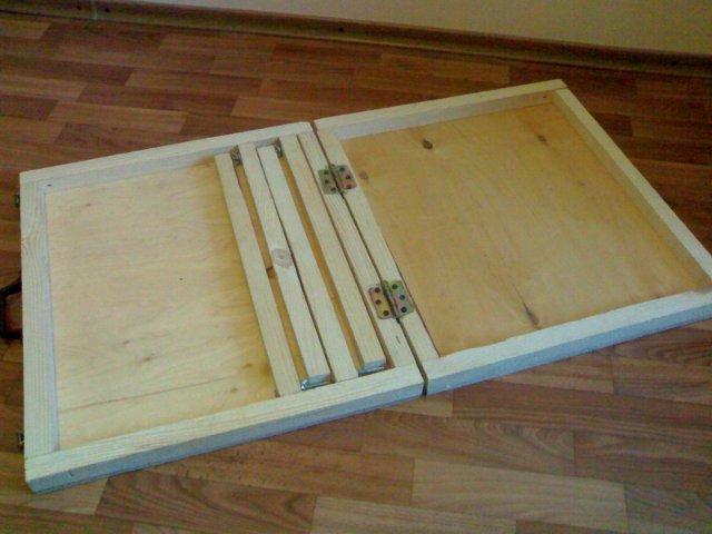 Как сделать раскладной стол чемодан