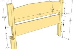 Размеры спинки деревянной кровати
