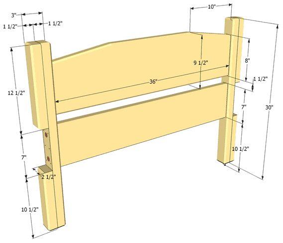 Чертеж деревянной кровати своими руками