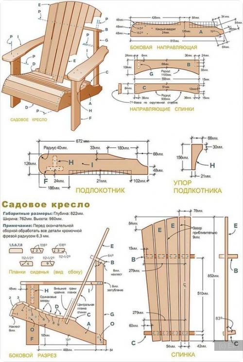 Чертежи мебель из дерева своими руками