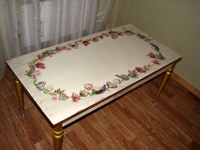 Как декорировать стол своими руками