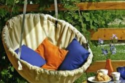 Кресло гамак из обруча и ткани