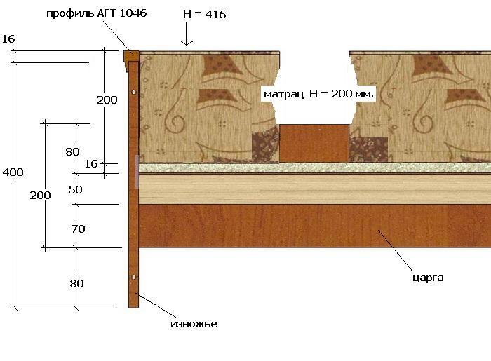 Схема-расчет двуспальной