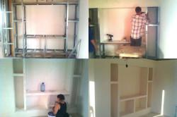 Процесс строительства ниши