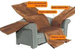 Схема пошива чехла для дивана