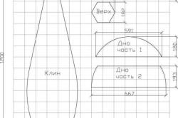 Схема - выкройка бескаркасной мебели