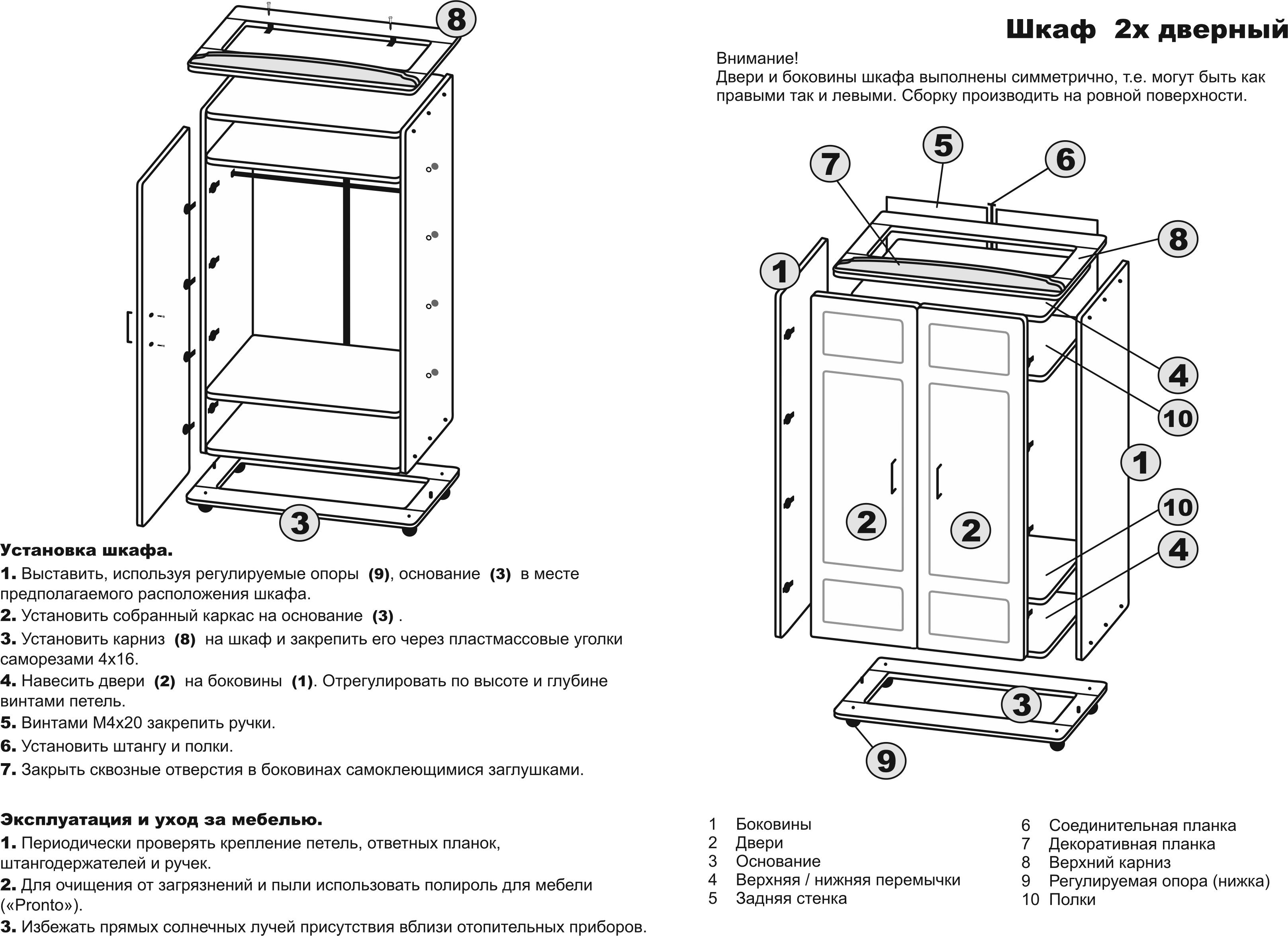 Инструкция по сборке шкаф купе своими руками