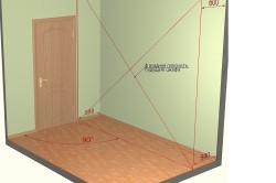 Разметка вертикальной плоскости фасадной части шкафа