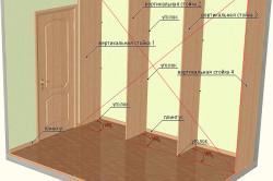Схема монтажа вертикальных стоек