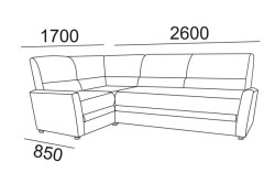 Схема замера углового дивана