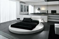 Круглая кровать с подиумом