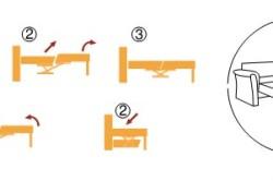 "Принцип сборки и разборки дивана с механизмом ""пума"""