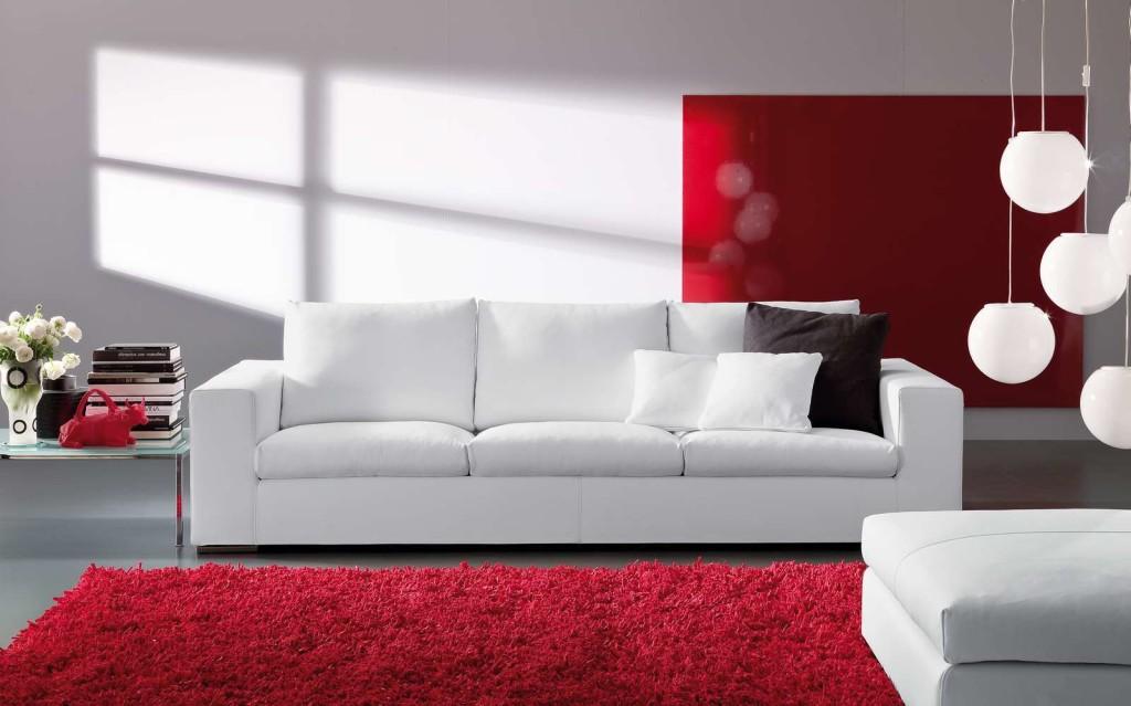 Пример дивана в гостиной