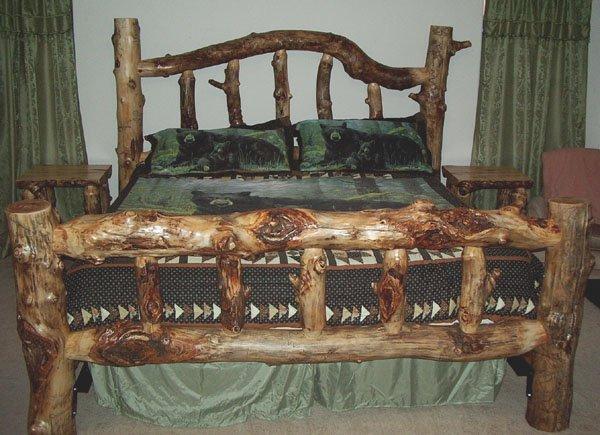Кровать из брёвен своими руками фото 21