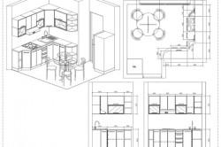 Чертеж размещения мебели